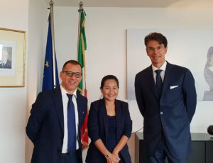 Meeting with Italian Neo Ambassador Doctor Galanti